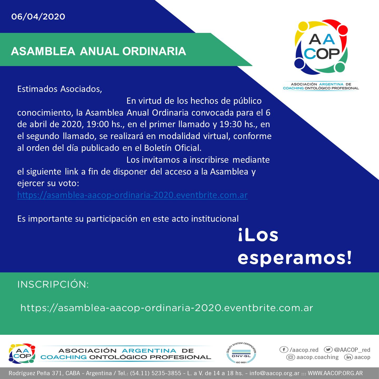 ASAMBLEA 2020 | imagen
