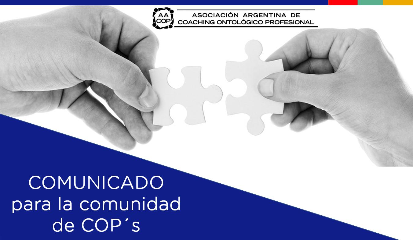 Comunicado para la comunidad AACOP | imagen